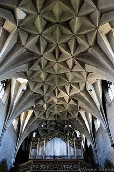This extraordinary and exceptional roof is from a church quite far from Basel's centre. It's cement