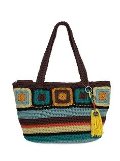 Bright and fun, our new Kenya tote is hand-crocheted featuring our favorite multis.  Looks great with jeans and a white t-shirt,