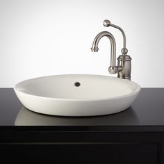 Milforde Porcelain Semi-Recessed Sink
