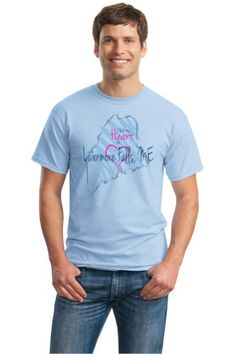 I Left my Heart in Livermore Falls, ME Unisex T-shirt | Maine Pride-Medium by Ann Arbor T-shirt Co.Take for me to see I L