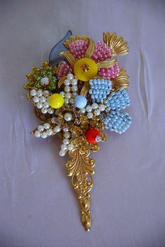 Stanley Hagler Mother's Day Bouquet Brooch