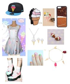 """ice cream contest entry"" by odscene on Polyvore featuring Victoria Townsend, Yves Saint Laurent, CellPowerCases, Iron Fist, women's clothing, women, female, woman, misses and juniors"