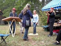 """Old Time Jam playing """"Soldier's Joy"""" at Fall Festival at the John C. Campbell Folk School   www.folkschool.org"""