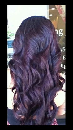 Dark plum hair color