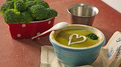 Cremige Brokkolisuppe mit Safran