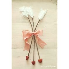Valentine Decor for the front door!! Why did I not think of this!! How cute!!