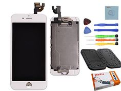 "Wefix iphone 6 Replacement Digitizer and Touch Screen LCD Assembly With Spare Parts (Home Button, Flex Cable, Camera Bracket, Adhesive,Tools) For iPhone 6 4.7"" (White)   Wefix iphone 6 Replacement Digitizer and Touch Screen LCD Assembly With Spare Parts (Home Button, Flex Cable, Camera Bracket, Adhesive,Tools) For iPhone 6 4.7'' (White)  Product information:   1.LCD Digitizer with no bubbles already pre assembly  2. All parts are factory assembled.  3. It is used to repair Faulty LCD.."