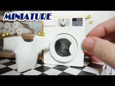 DIY Realistic Miniature Washer 미니어쳐 드럼세탁기로 빨래를 해볼까나~ * (ミニチュア洗濯機) - 레아네미니하우스 - YouTube