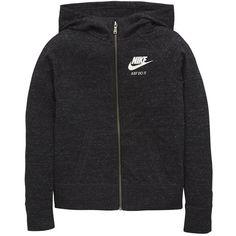 Nike Older Girls Gym Vintage Hoody featuring polyvore women's fashion clothing tops hoodies sweatshirts clothing - hoodies jumper vintage hoodie colorful hoodies sweatshirt hoodies hooded pullover hooded sweatshirt
