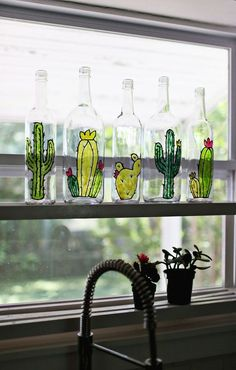 DIY Faux Stained Glass Bottles