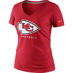 Kansas City Chiefs Nike Women's Dri-Fit V-Neck T-Shirt