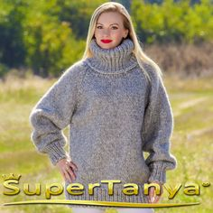 MADE TO ORDER thick hand knitted mohair wool sweater by supertanya