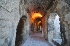 Couloir Amphithéâtre de Nîmes Nimes France, Monuments, Pont Du Gard, Painting, Art, Art Background, Painting Art, Paintings, Kunst