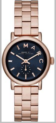 4602b7b382 Women's Rose Gold-Tone Marc Jacobs Baker Mini Watch MBM3332 Stainless Steel  Case, Marc