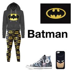 """Batman"" by jamie2005 ❤ liked on Polyvore featuring interior, interiors, interior design, home, home decor, interior decorating, Casetify and Converse"