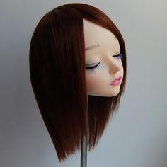 Feeple60 fairyland sd wig warm brown handmade acrylic bjd doll
