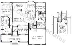 Superbe 05242 Garden Ridge House Plan, 1st Floor Plan, Cape Cod Style House Plans,  Colonial Style House Plans, Wheelchair Accessible House Plans