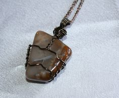 Hey, I found this really awesome Etsy listing at https://www.etsy.com/listing/178970700/jasper-stone-wire-wrapped-pendant