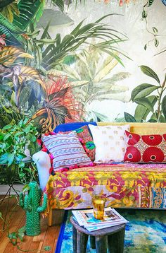 As the colder months approach, cravings for the outdoors only grows. But turn your home into an indoor oasis, and you can enjoy a jungalicious retreat all year long! Use these simple tips, ideas and fun Fab pieces to turn your living room from mild to wild. 1.) Create Lush walls. Do this by...