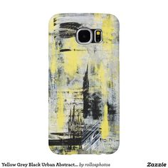 Yellow Grey Black Urban Abstract Painting Samsung Galaxy S6 Cases