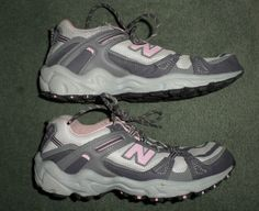 Women's Pink & Grey NEW BALANCE 410 All Terrain Athletic Running Shoes, Size 7B #NEWBALANCE410AllTerrain #AthleticRunningCrossTrainingAllTerrain