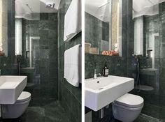 Då och nu med svart marmor | Badrumsdrömmar