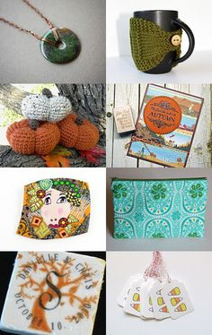 Autumn Green and Orange Serenity by Diana on Etsy--Pinned with TreasuryPin.com
