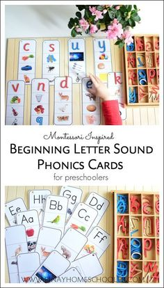 beginning letter phonics cards and activities for preschoolers