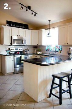 Beadboard Kitchen Cabinets | White Kitchen Cabinets, Beadboard Penninsula - I Heart Nap ... | Kitc ...