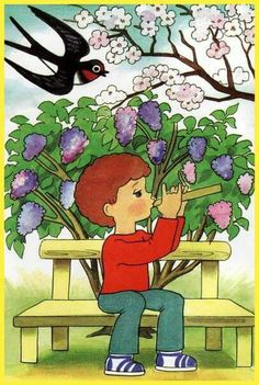 Art Drawings For Kids, Teaching Kindergarten, Folk Art, Watercolor Paintings, Activities, Snoopy, Spring, Fictional Characters, Oil Pastels