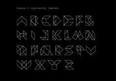 tangram typography | Tipografía experimental que nació para la creación de la portada de ...