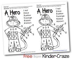 Fire Prevention Month Ideas, Resources, and a FREEBIE - Kinder Craze: A Kindergarten Teaching Blog