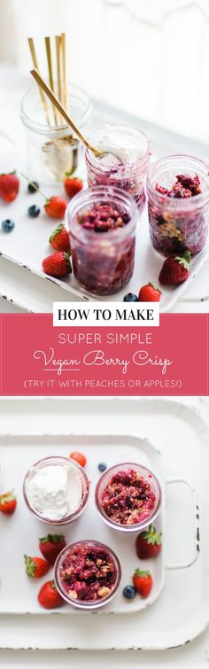 Easy Vegan Berry Cri