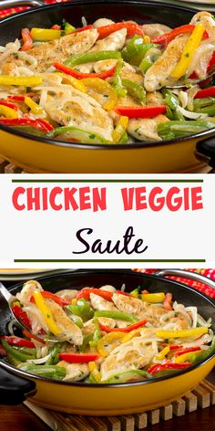 Chicken and veggies in a one skillet recipe? Sign us up for the Chicken Veggie Saute tonight!