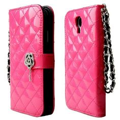 niceeshop(TM) Hot Pink Quilted Sheep Leather Crystal Camelia Magnet Flip Strap Book Wallet Case Cover For Samsung Galaxy S4 I9500 +Screen Protector, http://www.amazon.com/dp/B00GXSOKU4/ref=cm_sw_r_pi_awdm_-cY2sb0CDTJZ3