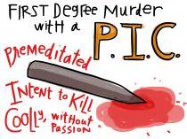 First Degree Murder - Visual Law Library Law School Humor, School Staff, Graduate School, Law Notes, Exam Motivation, Criminal Procedure, One Degree, Criminal Law, Exam Study