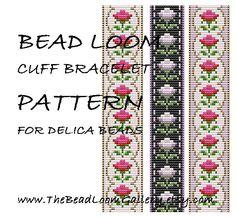 Bead Loom Cuff Bracelet Pattern Vol.37 - The June Rose - PDF File PATTERN