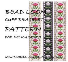 Bead Loom Cuff Bracelet Pattern Vol.37  The por thebeadloomgallery
