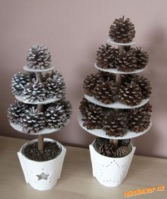 Šiškový stromek. Homemade Christmas, Diy Christmas Gifts, Christmas Time, Pine Cone Decorations, Christmas Decorations, Holiday Decor, Crafts To Do, Crafts For Kids, Arts And Crafts