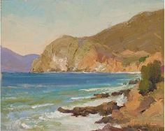 Study for Pacifica Coast by Joseph Mendez, 2007, oil painting, 12 x 16.