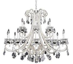 with Firenze Clear Crystals#Furniture#BedroomFurniture#Chandelier#homedecor #affiliate Rectangle Chandelier, Globe Chandelier, Chandelier Shades, Modern Chandelier, Chandelier Lighting, Modern Lighting, Chandeliers, Luxury Chandelier, Wagon Wheel Chandelier