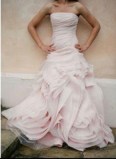 a0d176dab518d My dream wedding dress♥ Vera Wang Blush Pink Weddings, Pink Wedding Gowns,  Wedding