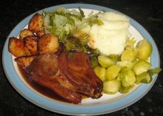 Oven cooked lamb cutlets.