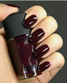 Nail polish: nails dark burgundy dark halloween makeup