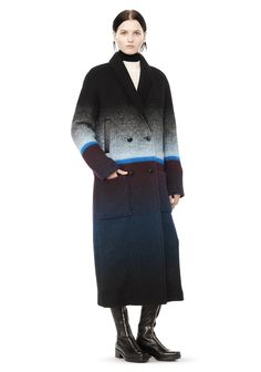 DOUBLE BREASTED LONG CAR COAT | Jackets And Outerwear | Alexander Wang Official Site