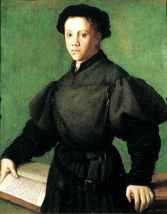 Portrait of Lorenzo Lenzi by Bronzino. Pinacoteca del Castello Sforzesco, Milan, 1527-28