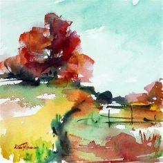 """Tree in autumn"" - Original Fine Art for Sale - © Mikko Tyllinen"