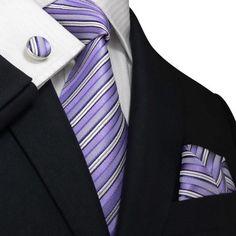 Men's Stripes Purple And White Silk Tie Set 30M Dapper World http://www.amazon.com/dp/B00D8HJG02/ref=cm_sw_r_pi_dp_nlgSvb077NW8J