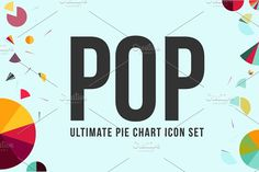 POP: Ultimate Pie Chart Icon Set by Sky Sister Studio on @creativemarket