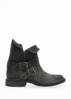 MANGO - TOUCH - Suede biker ankle boots